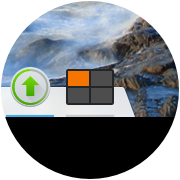 An icon-sized desktop switcher is easily embedded as a plasmoid.